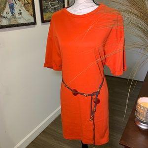 ZARA T-Shirt Dress - Orange- Large